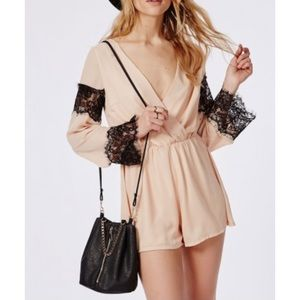 Missguided size 10 light pink romper